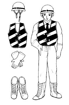 安全的服裝及护具的穿戴