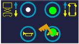 按下行走 按钮。按住乌龟按钮选择低速调节。调节该速度应保持按住它。显示指示当前设定值。可以用右转(增加)和左转(减少)按钮来调节速度。