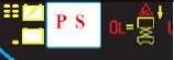 """PS""和当前起升速度会交替在屏幕上闪烁。"