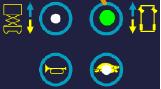 按下行走按钮。按钮上的LED显示该模式被激活。可以用右转(增加)和左转(减少)按钮来调节速度。