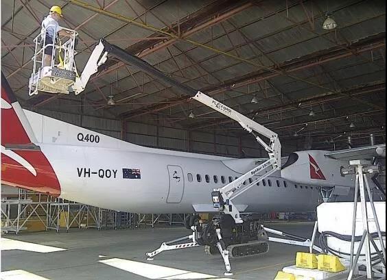 蜘蛛式必赢亚洲线路测试平台运用在飞机检修上